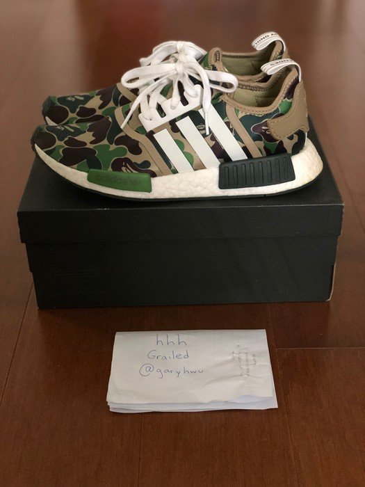 08575598d Adidas Bape NMD R1 - Green Camo Size 9 - Low-Top Sneakers for Sale ...