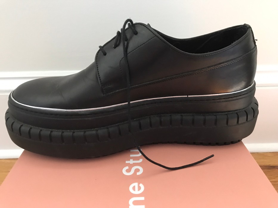 47b9606ab378 Acne Studios Black Hover Derby Platform Shoes Size 11 - Formal Shoes ...