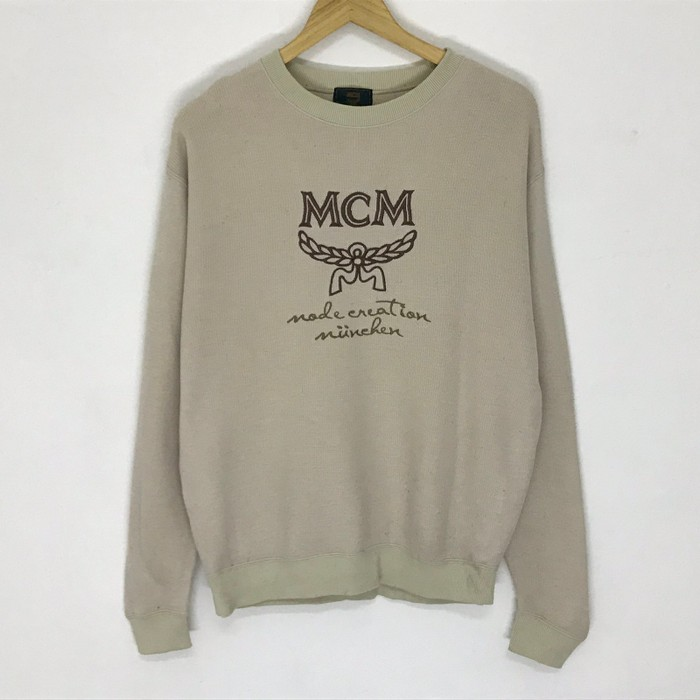 b6c5106e5a6 Vintage Vintage Mcm 90 s sweatshirt big logo big spell out embroidery size L  very rare design