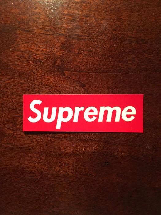 Supreme Box Logo Sticker Dimensions - Just Me And Supreme