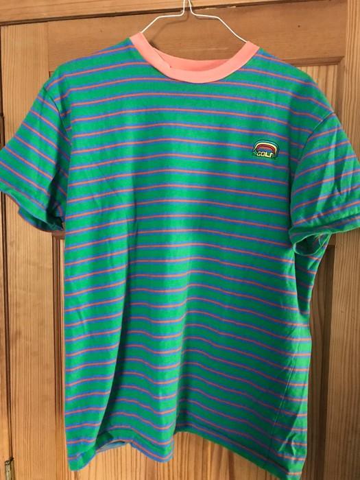 ffc7c6d78565 Golf Wang Golf Wang Striped Green Purple Rainbow T Shirt Size xl ...