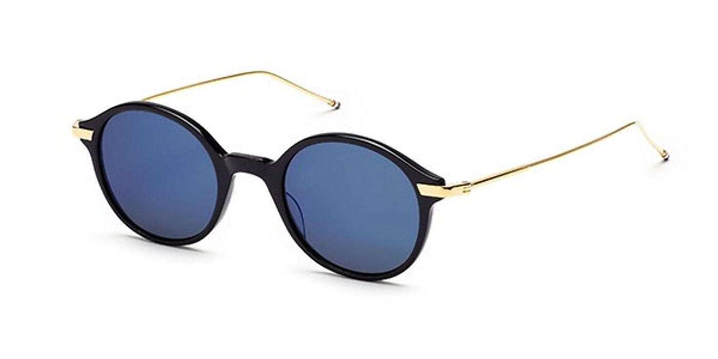 658d807a4a3 Thom Browne. Round-Frame Golden and Navy Acetate Lense Sunglasses LAST  DROP. Size  ONE SIZE