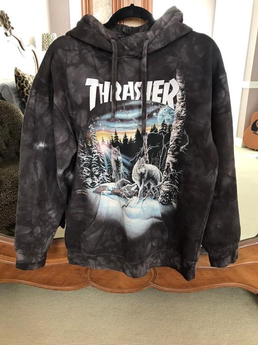e8c3c2510cea Thrasher Thirteen Wolves Oversize Hoodie Size m - Sweatshirts ...
