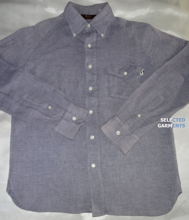 33b657923ce8 Bape. Bape a bathing ape shirt cotton linen made in japan light obsidian  grey size M ...