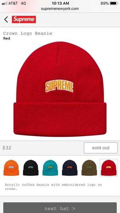 a10791ffba626 Supreme supreme crown logo beanie Size one size - Hats for Sale ...