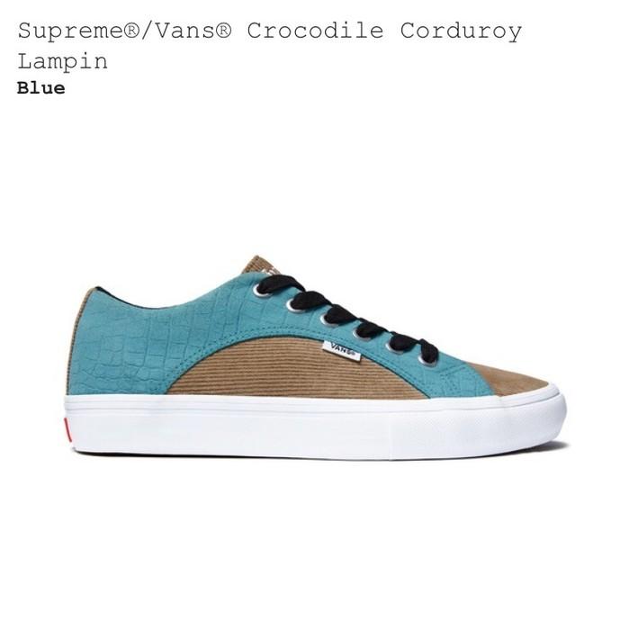 a8dde6d860 Supreme Supreme® Vans® Crocodile Corduroy Lampin (Blue) SS18 IN HAND Size