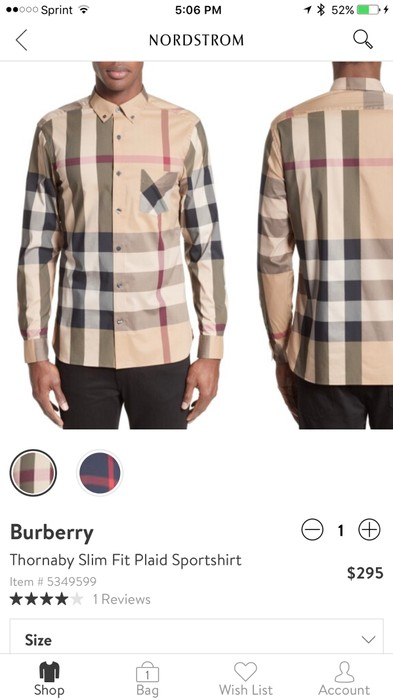New Burberry London Richard Slim Fit Plaid Sport Shirt Size S Clothing, Shoes & Accessories