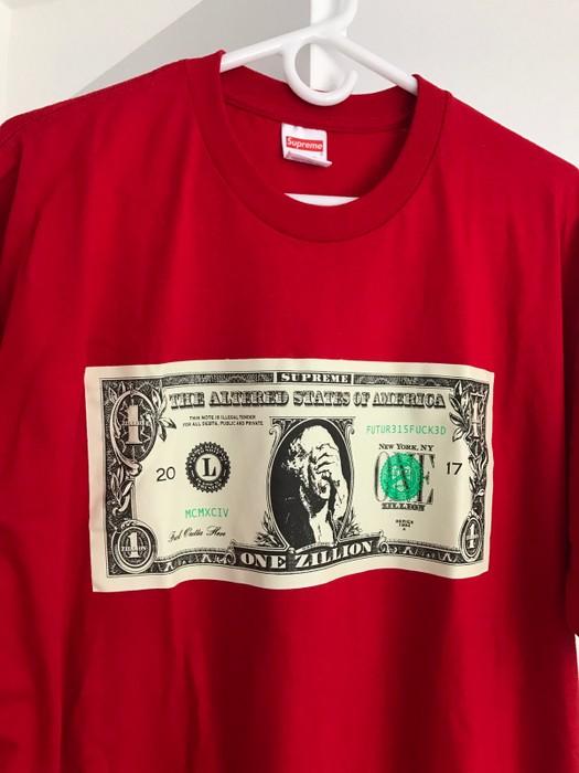 Supreme Dollar Tee Red Size Us Xl Eu 56 4