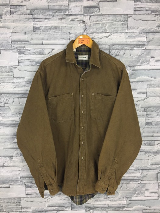 a3f116e7712 Vintage Vintage LL BEAN Jeans Barn Jacket Olive Green Medium 80 s Ll Bean Workwear  Chore Men