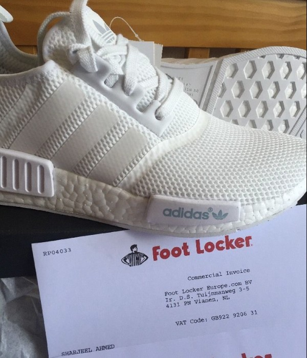 6121f333a Adidas ADIDAS NMD R1 RUNNER TRIPLE ALL WHITE MESH UK SIZES 8 NEW FOOTLOCKER  RECEIPT Size