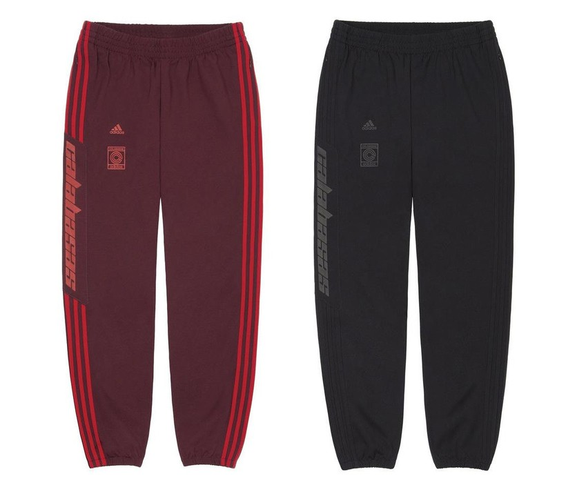 0740e6238f3e9 Adidas YEEZY CALABASAS TRACK PANTS SET - RED   MAROON   BLACK CONFIRMED -  SIZE S