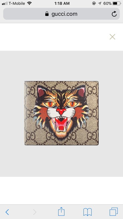 673dc4e6301f8e Gucci Gucci Angry Cat Bi-Fold Wallet Size one size - Wallets for ...