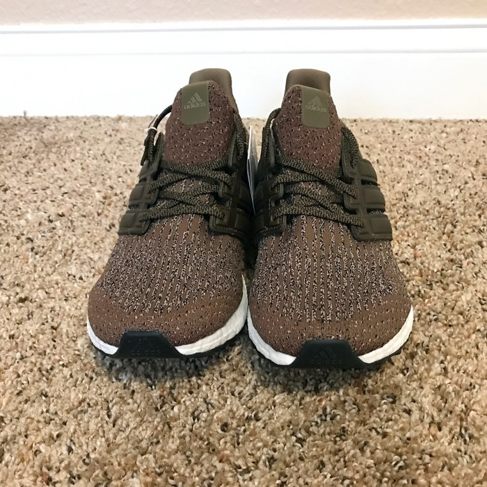 49cca0208 Adidas Adidas Ultra Boost 3.0 Trace Olive S82018 Green Cargo UB Leather Cage  Primeknit Size 9.5