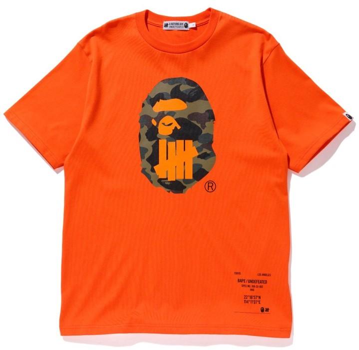 007140a9 Bape A Bathing Ape Bape X Undefeated Hong Kong Limited T-shirt Size US L