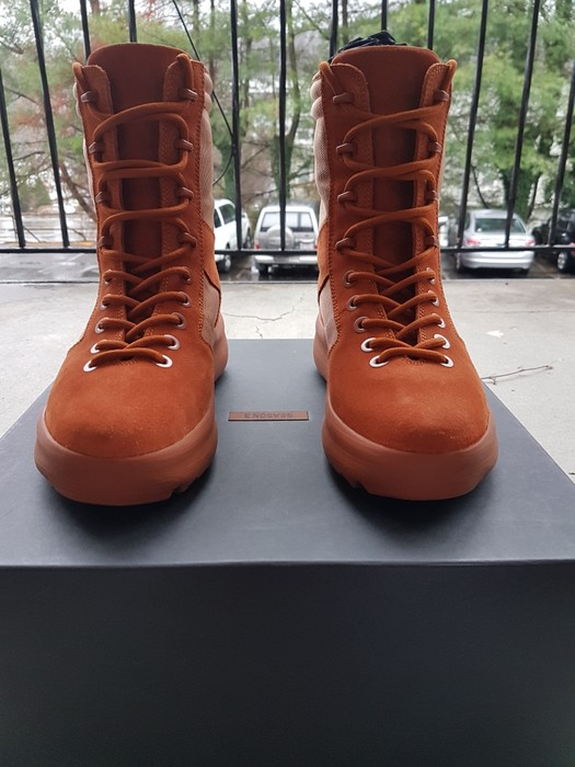 644f7c8b3 Kanye West Yeezy Season 3 Military boot Burnt Sienna (Orange) Size US 8