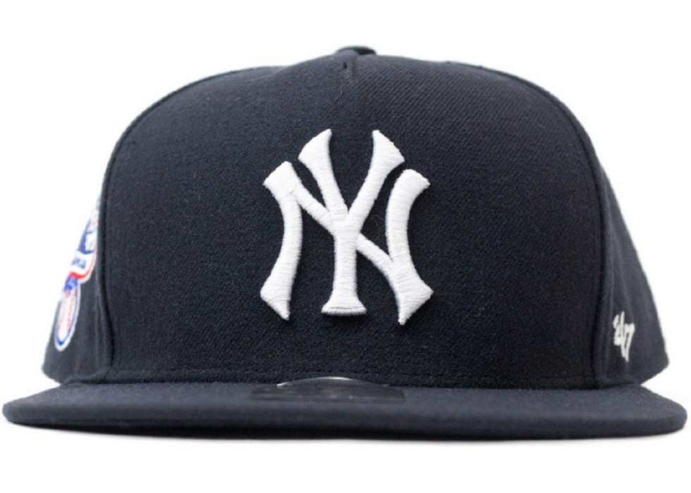 f49fcc57c34 Supreme × Mlb × 47 Brand.     FINAL PRICE     New York Yankees 5 Panel  Baseball Snapback Hat Navy SS15