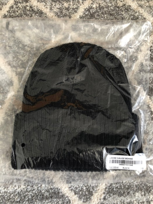 b2e13a0931f Supreme Loose Gauge Beanie Black FW18 Size one size - Hats for Sale ...