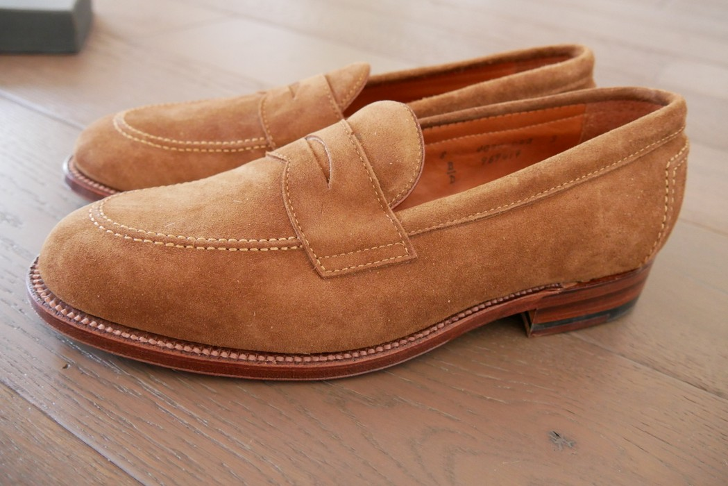 72622036d3f Alden Snuff Suede Penny Loafers Size 8 - Casual Leather Shoes for ...