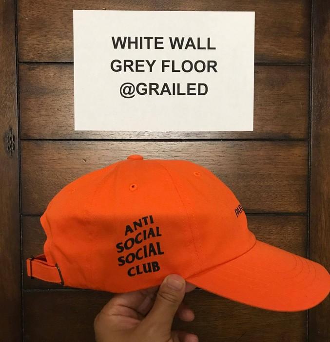 f1f0b1776c7c Antisocial Social Club Orange Paranoid Cap (ASSC X Undefeated) Size ONE SIZE