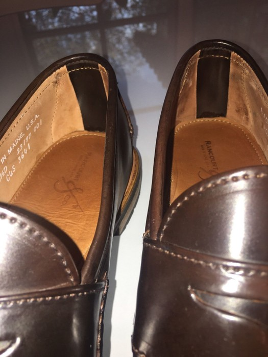 53eb1f6a370 Rancourt   Co. Rancourt Espresso Brown Shell Cordovan Pinch Penny Loafers  Size US 10.5
