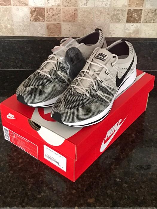 278a67c86c61 Nike Nike Nikelab Flyknit Trainer Pale Grey Black AH8396-001 Size 12 ...