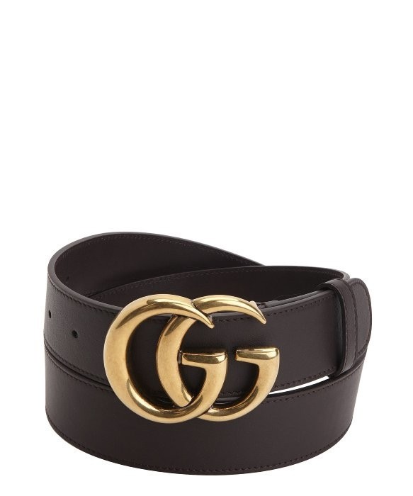 7aeba2bdf36 Gucci Dark Brown Gold Leather Belt Size 28 - Belts for Sale - Grailed