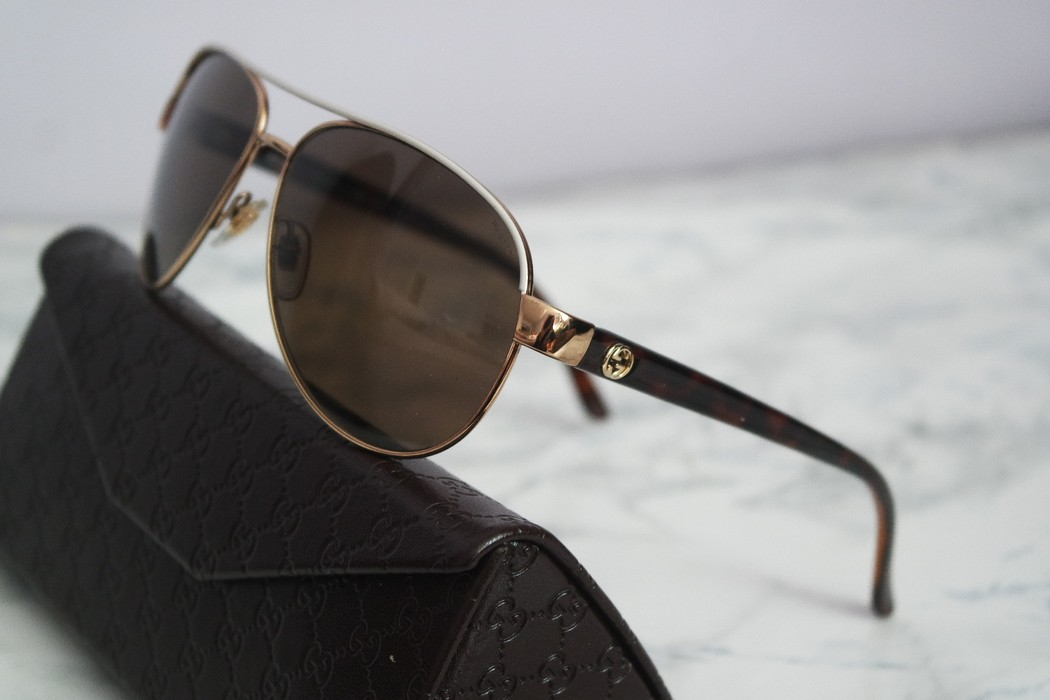 039c1ac3aac Gucci. NEW Gucci GG 4239 S White Gold Polarized Aviator Sunglasses. Size  ONE  SIZE
