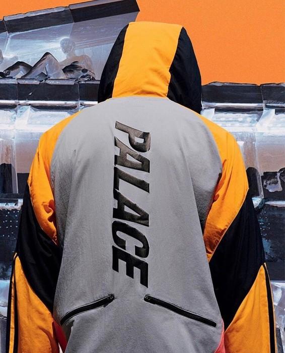 69402d0b4281 Adidas Adidas x Palace Hooded Jacket Grey  Lucky Orange Size US M   EU 48