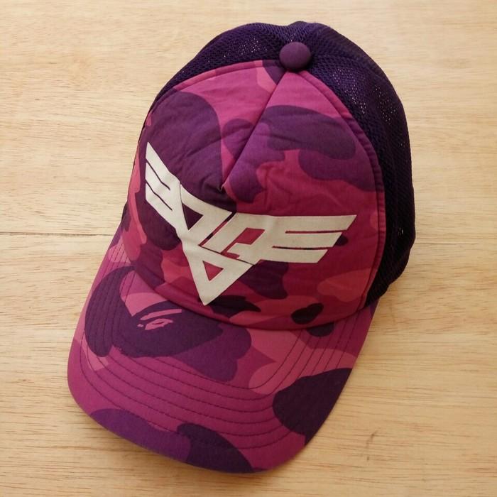 b5462d77b28 Bape Bape Purple Camo Wing Logo Trucker Size one size - Hats for ...
