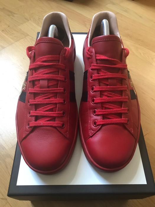 ff82ef93687 Gucci Ace embroidered sneaker Red UK8 Size 9 - Low-Top Sneakers for ...