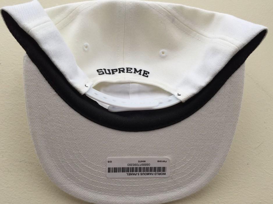 f8541179e85 Supreme NEW Supreme World Famous 6-Panel White Snapback Hat Size ONE SIZE -  4