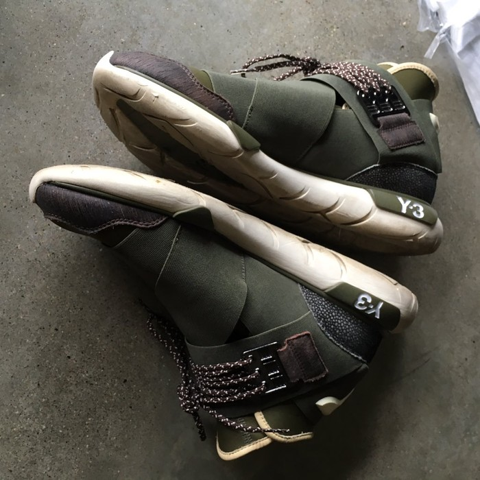 5e22b1690 Y-3 Y-3 Y3 Adidas Qasa High Olive Drab Size 10 - Hi-Top Sneakers for ...