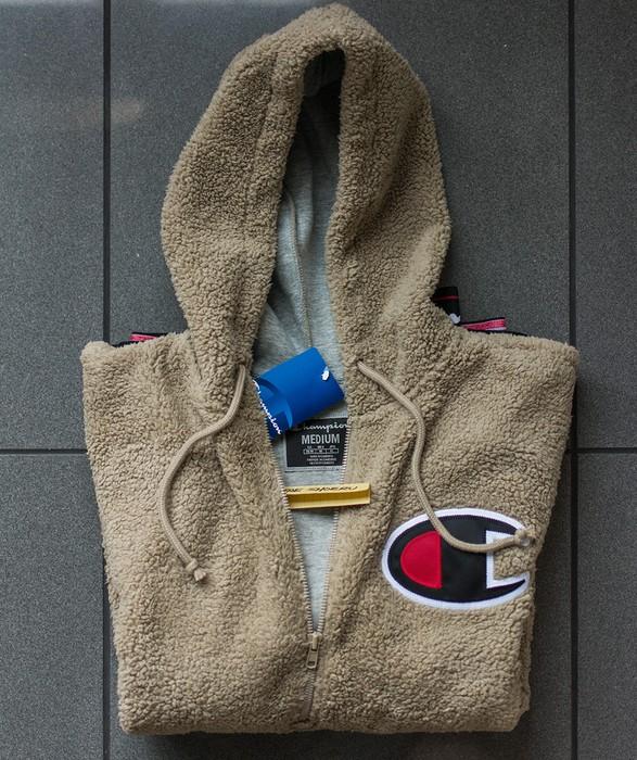 0626ddcfb34e Champion Sherpa Half Zip Pullover Hoodie - Khaki Tan (IN HAND!) Size ...