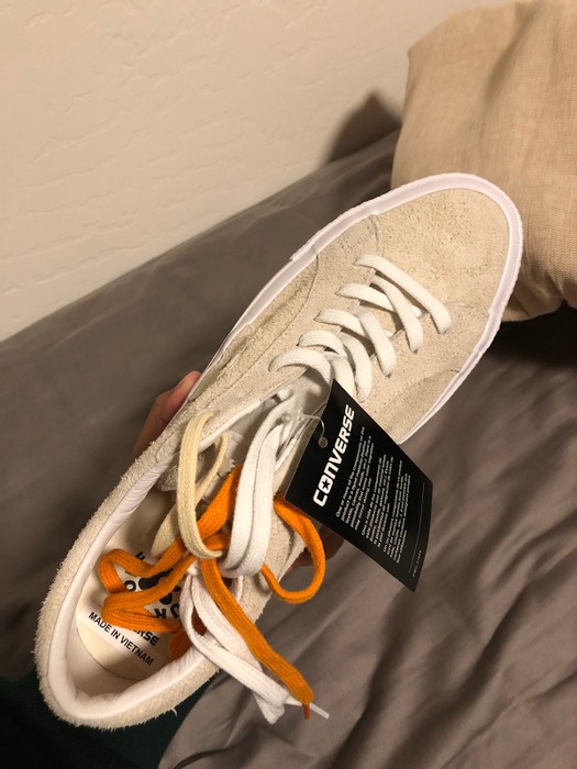 11eeddd4f33d Golf Wang Gold Le Fleur Converse In Cream Size 9.5 - Low-Top ...