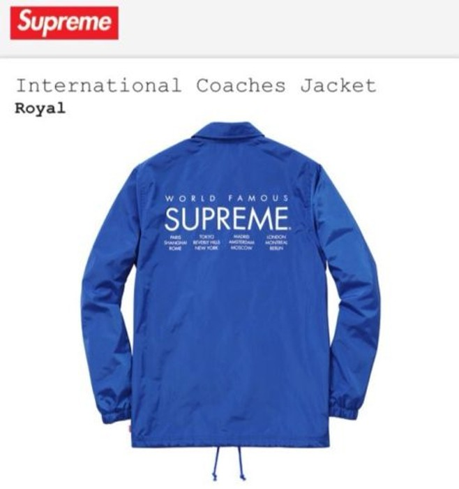 Supreme International Coaches Jacket Size Us M Eu 48 50 2