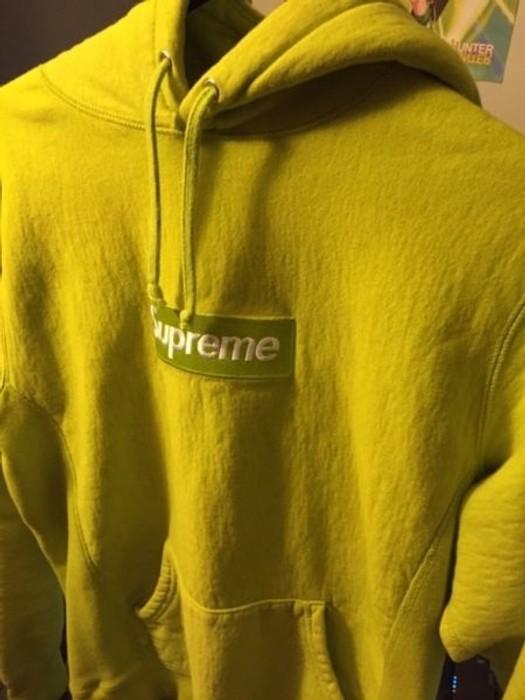 b541a88d5048 Supreme Acid Green Box Logo Hoodie Size m - Sweatshirts   Hoodies ...