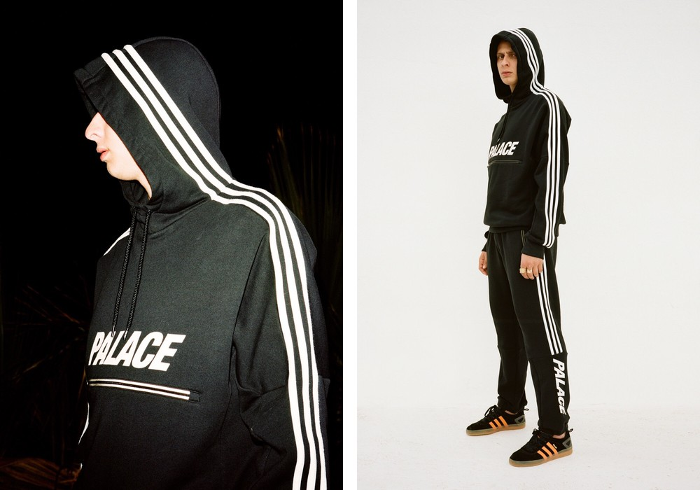2c90bd5933f0 Adidas Collab PALACE 3 Stripes Hoodie Black Size l - Sweatshirts ...