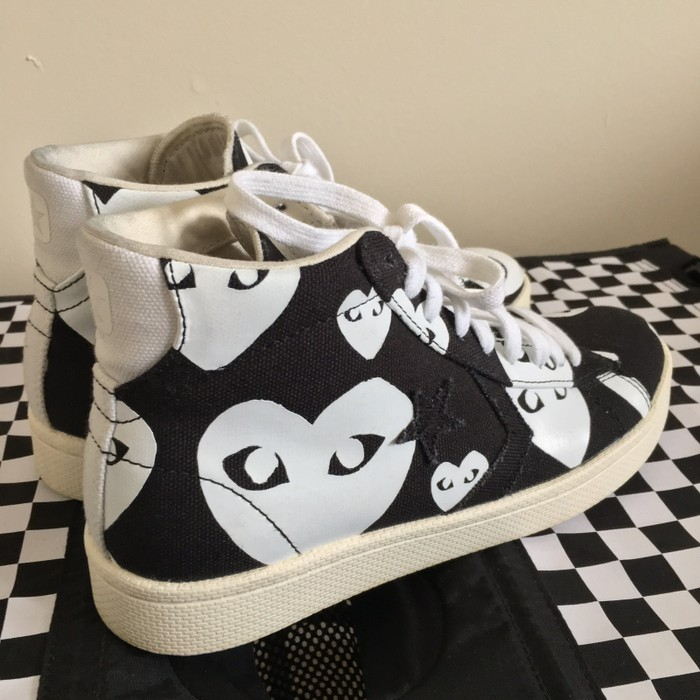 a46524802b78 Comme Des Garcons Play Play Converse Pro Leather High Size US 6   EU 39 -