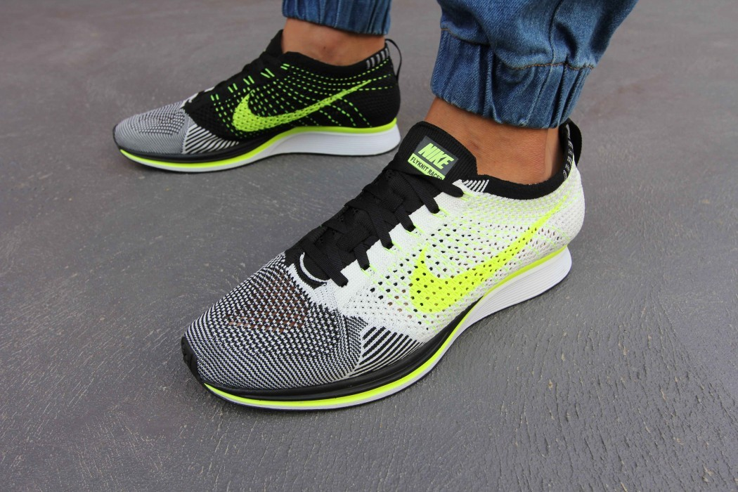a8bbe513c6f0 Nike Flyknit Racer Sail Volt-Black Size 8.5 - Low-Top Sneakers for ...