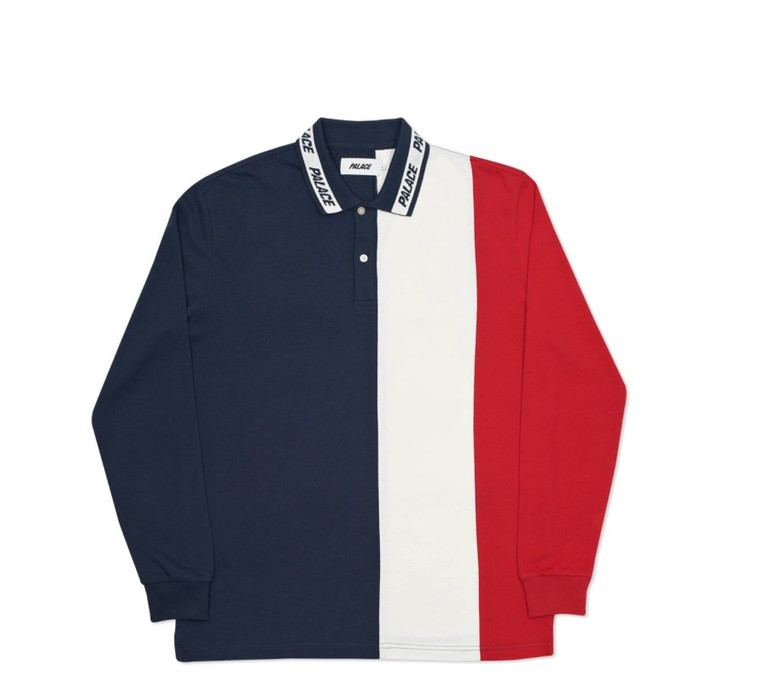 958f99328 Palace Vertical Tri Stripe L/S Polo Navy/White/Red Size xl - Polos ...