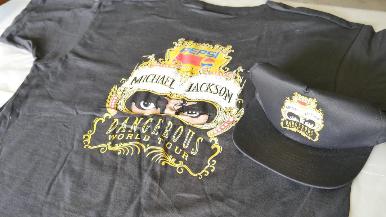 1aa54fb88b172 Michael Jackson VINTAGE MICHAEL JACKSON PEPSI DANGEROUS WORLD TOUR SHIRT    CAP Size US XL