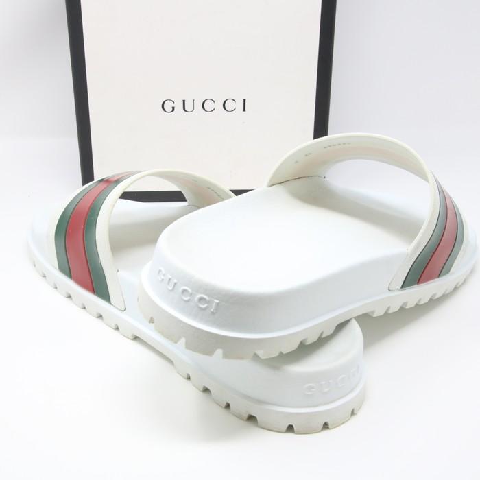 27b39c201 Gucci Gucci Signature Pursuit 72 Trek Flip Flop Summer Sandals White sz 12  Sold Out Size