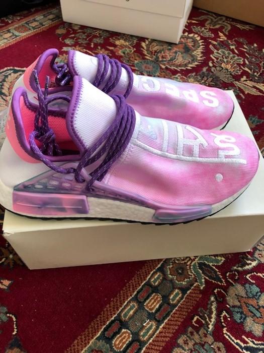 490f2b293 Adidas adidas Human Race NMD Pharrell Holi Festival (Pink Glow) us9 Size US  9