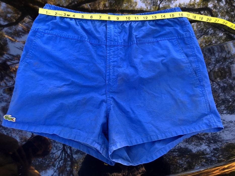 b817b0e417d5 Vintage VTG IZOD LACOSTE MENS BOARD SHORTS BATHING SUIT BLUE SIZE LARGE  LINED Size US 32