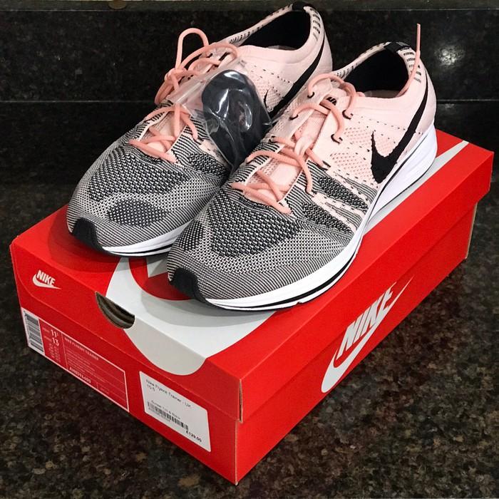 huge selection of 34cbf cdb9b Nike Nike Nikelab Flyknit Trainer Sunset Tint AH8396-600 Size US 11   EU 44