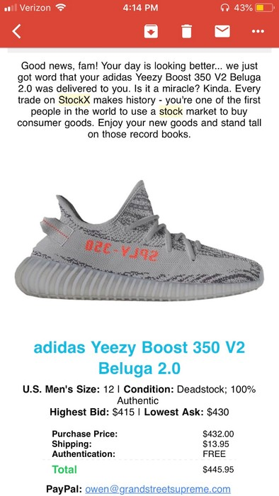f4ce0962abd2b Adidas Yeezy 350 V2 Beluga 2.0 Size 12 - Low-Top Sneakers for Sale ...