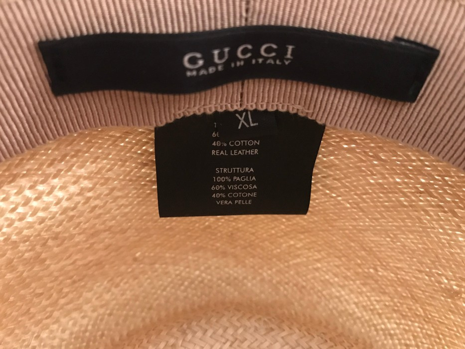 bd57457b7e05f Gucci Gucci Web Band Straw Boater Hat Size one size - Hats for Sale ...