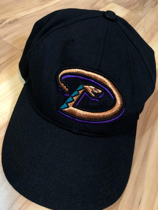 70129353f564f Vintage 90s Arizona Diamondbacks Snake Logo Baseball 6 Panel Curve Bill  Strapback Dad Hat Cap Size