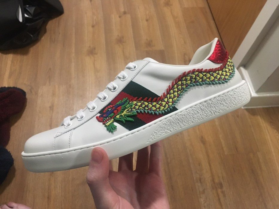 2645d7d182a Gucci Dragon Ace Sneaker Size 8 - Low-Top Sneakers for Sale - Grailed