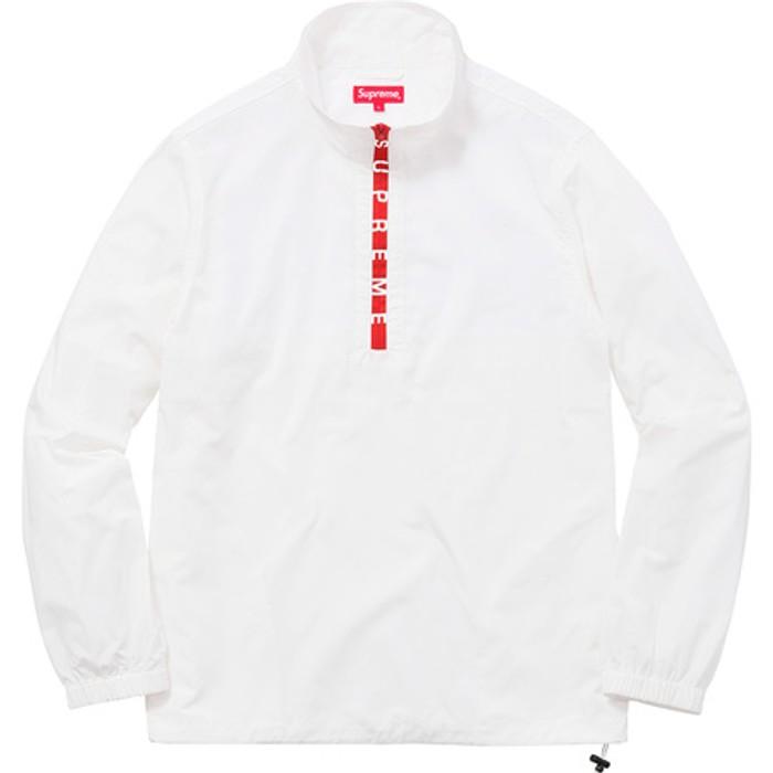 Supreme White Zip Logo Pullover Windbreaker Size Us M Eu 48 50
